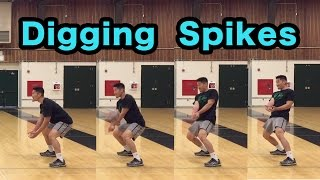 How to DIG Hard Driven Spikes - Volleyball Defense Tutorial
