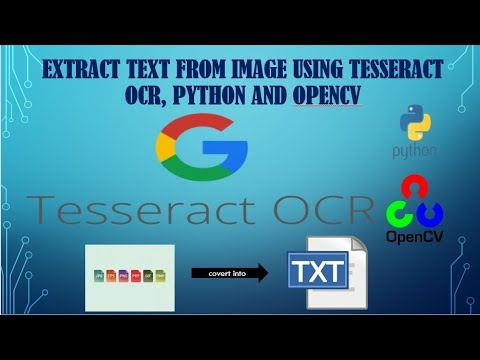 Using Tesseract-OCR to extract text from images - смотреть