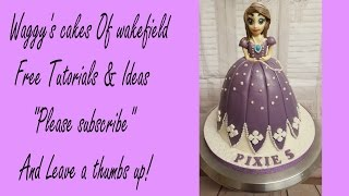 making a princess Sofia cake all edible