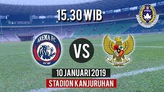 Sedang Berlangsung, Pertandingan Arema FC Vs Indonesia U-22