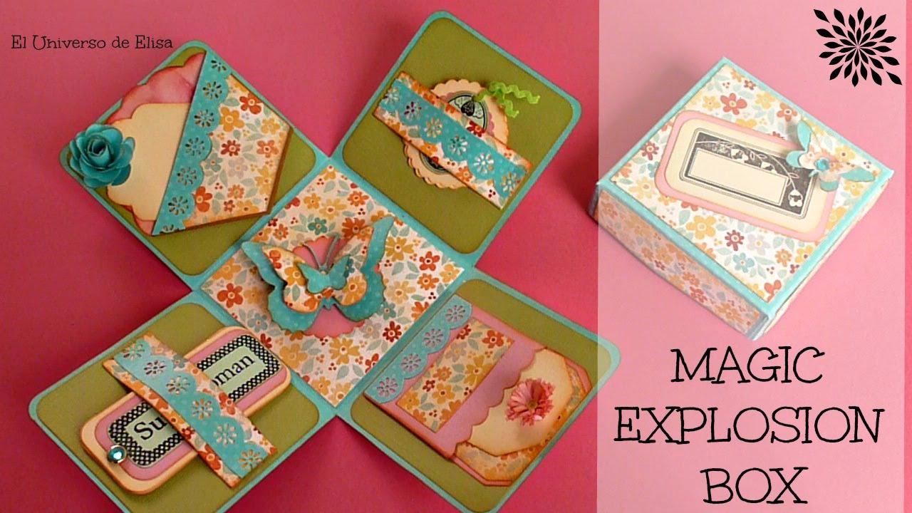 CAJA EXPLOSIVA - EXPLOSION BOX, Regalos para el Día de la Madre, Magic Explosion Box