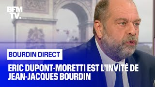 Eric Dupont-Moretti face à Jean-Jacques Bourdin en direct