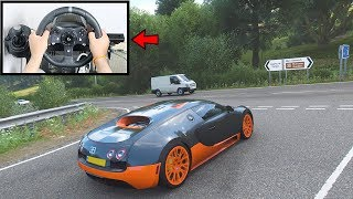 b593e9f12a8 Forza Horizon 4 Driving Bugatti Veyron (Steering Wheel + Paddle Shifter)  Gameplay