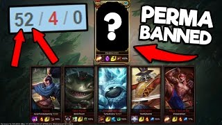 1 Challenger vs 5 Bronze Players, THIS IS WHY CHALLENGERS PERMABAN THIS CHAMPION (52/4)