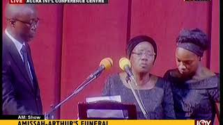 Tribute By Wife Of Amissah-Arthur - AM Show on JoyNews (27-7-18)