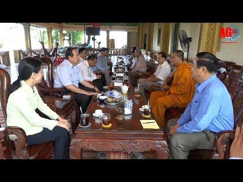 Thăm, chúc Tết cổ truyền Chol Chnam Thmay ở huyện Châu Thành