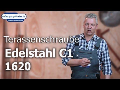 Terrassenschrauben - Edelstahl C1 - Senkkopf - Torx - speziell für Hartholz