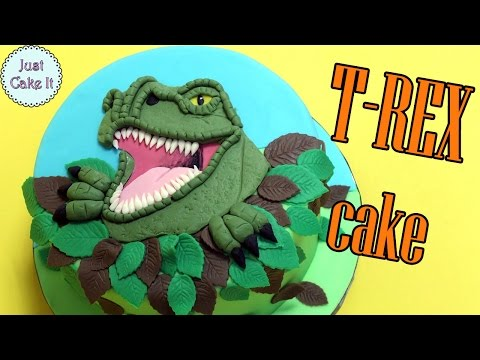 How to make dinosaur T-rex cake