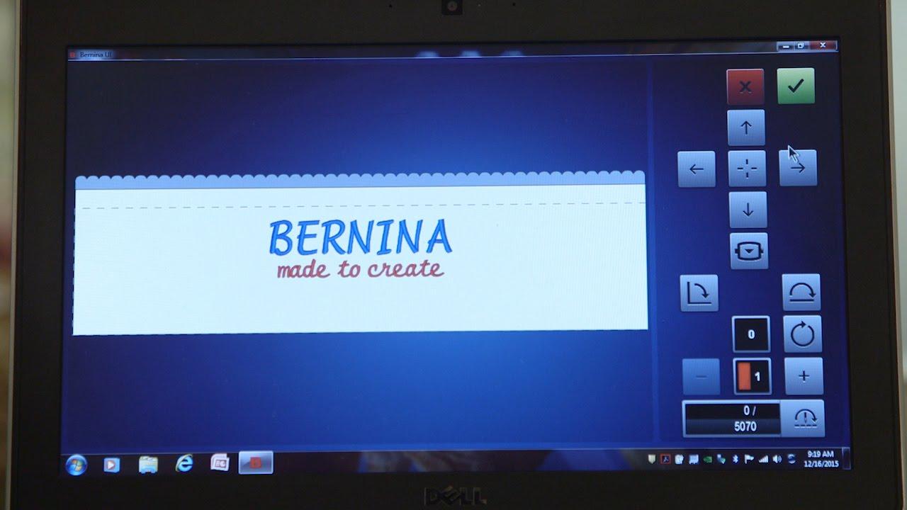 BERNINA E 16 Tutorial: Stitching a Cap – Computer