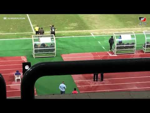 لحظة خروج بن شرقى ونزول شيكابالا فى نهاية مباراة المصرى والزمالك