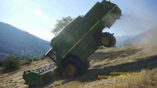 Grosse frayeur en direct JOHN DEERE 2256 DANGEROUS WORK