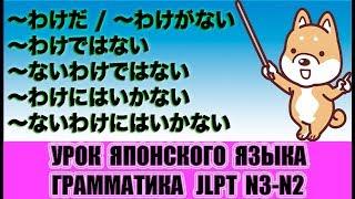 Грамматика JLPT N3-N2. Конструкции с わけ. Урок японского языка