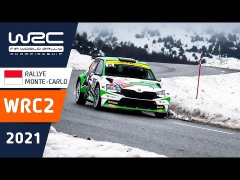 WRC2 2021 開幕戦のラリーモンテカルロ 金曜日のハイライト映像
