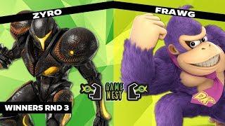 Game Nest Smash It Up: Zyro (Dark Samus) vs Frawg (Donkey Kong) - Winners Round 3
