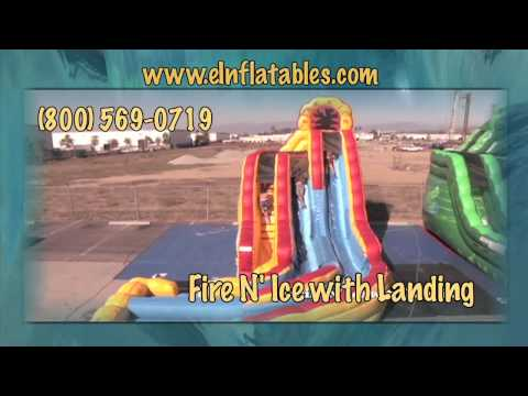 'Fire N' Ice' Inflatable Slide with Landing | eInflatables