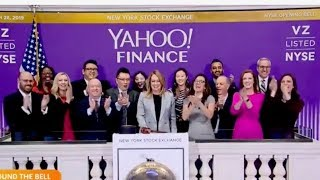 Yahoo Finance Rings The Opening Bell At The NYSE