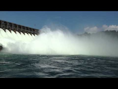 Video Hartwell Dam Anderson SC Flood release