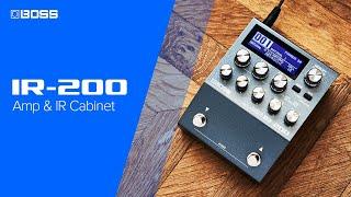 Boss IR-200 Amp & IR Cabinet Video
