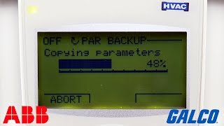 How to Copy and Download Parameters on ABB ACH550 HVAC Drive