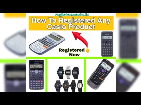 How to registered casio product