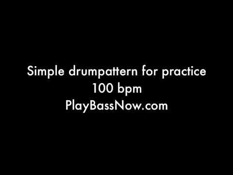100 bpm Drum machine loop pattern