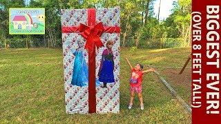 Biggest Surprise Box Ever & Surprise Egg Toys Like Disney Frozen RideOn, Let it Go Wand, Elsa Castle