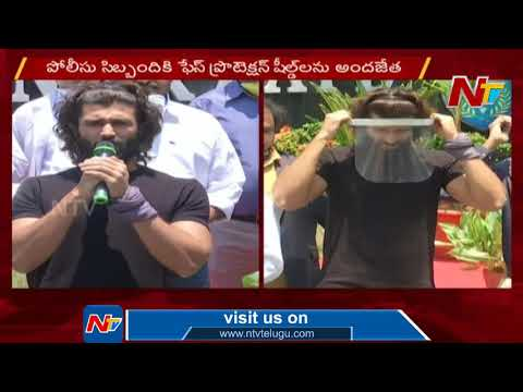 Actor Vijay Devarakonda Praises Police Department Distributes Face Protection Shields