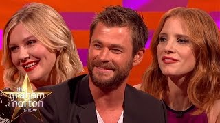 Chris Hemsworth, Jessica Chastain and Kirsten Dunst Share Animal Stories - The Graham Norton Show