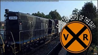 VIRTUAL RAILFAN SELECTED CLIPS OF THE DAY! July, 25, 2019