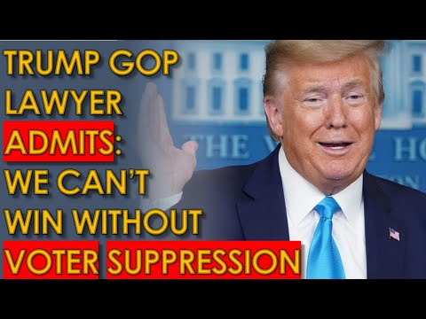 Trump Lawyer ADMITS Republicans CANNOT WIN without Voter Suppression in Supreme Court Recording