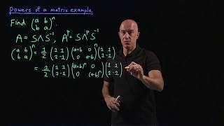 Powers of a matrix example | Lecture 38 | Matrix Algebra for Engineers