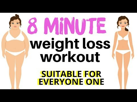 WEIGHT LOSS WORKOUT - QUICK HOME FITNESS EXERCISE VIDEO WITH THE BEST EXERCISES FOR WEIGHT LOSS