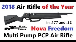 Nova Freedom Air Rifle Review (Air Rifle Of The Year 2018)  Built In PCP Pump! Part #1