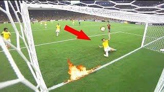 deportes Quito la pelota de la línea de gol