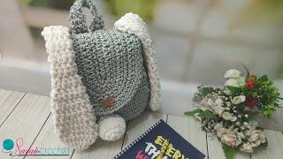 تحميل اغاني شنطه ظهر كروشيه للحضانه على شكل ارنوب لطفلك الحبوب وظهور خاص لقطتى لوسى - crochet bunny backpack MP3