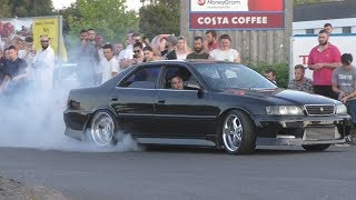 Tuner Cars Leaving Car Show-DRIFTING, BURNOUTS & Crazy Drivers!
