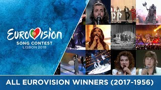 All winners of the Eurovision Song Contest (2017-1956)