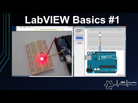 LabVIEW Basics #1 - Blinking an LED and setting up LINX on an Arduino UNO