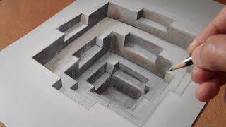 How to draw 3D hole - Trick Art Trompe-l'oeil - VamosART