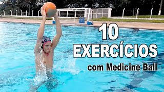 10 Leg Exercises With Medicine Ball For Water Polo Players
