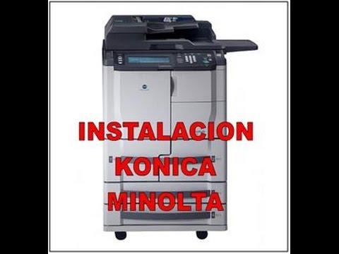 COMO INSTALAR DE UNA FOTOCOPIADORA KONICA MINOLTA EN RED BIZHUB 600
