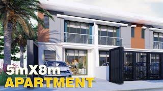 APARTMENT Design 5x8m (76 SQM) W/ 2 Bedrooms