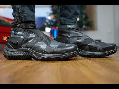 NIKELAB ACG GAITER BOOT REVIEW + ON FEET!! DOPE!! TECH KICKS!!