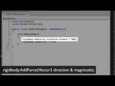 Unity - Adding Physics Forces