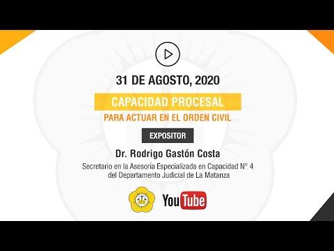 CAPACIDAD PROCESAL PARA ACTUAR EN EL ORDEN CIVIL - 31 de Agosto 2020