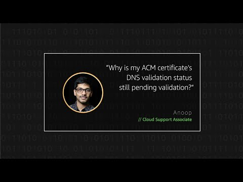 Why is my AWS Certificate Manager (ACM) certificate DNS ...