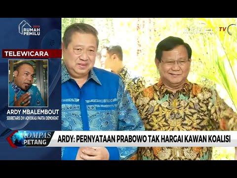 Kader Demokrat: Pernyataan Prabowo Tak Hargai Kawan Koalisi
