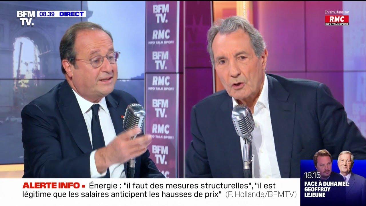 Face à Jean-Jacques Bourdin ce jeudi 21 octobre : François Hollande