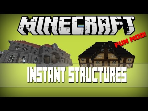 1 7 10 Ihouse 2 6 Instant Buildings 10x10 Modern House Minecraft Mod