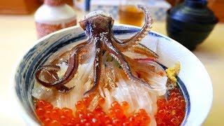 日本路邊小吃 - 跳舞魷魚生魚片 函館海鮮
